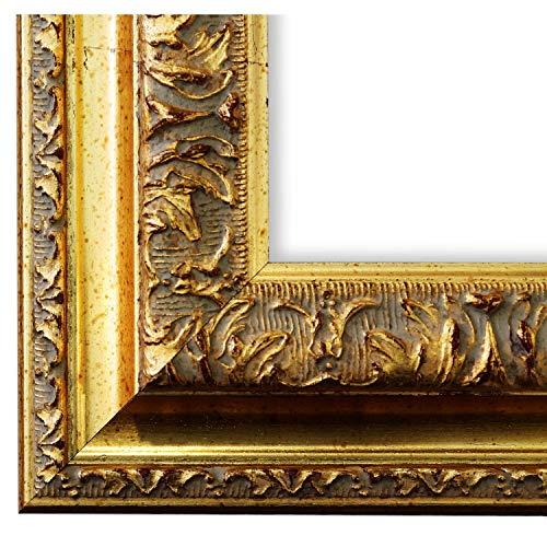 Online Galerie Bingold Bilderrahmen Rom Gold 6,5 - WRF - 50 x 70 cm - wählen Sie aus über 500 Varianten - alle Größen - Landhaus, Antik, Barock - Fotorahmen Urkundenrahmen Posterrahmen