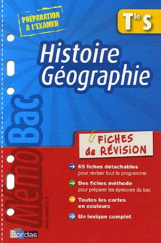Histoire Géographie Te S : Fiches de révision