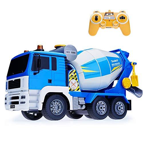 Tagke 1:20 BAU LKW Zement Tankmischer Fernbedienung Elektrotechnik Fahrzeug 4WD System Umweltschutz Material Eine Taste Rotierende Entladung RC Auto Für Kinder Jungen Geschenk (Größe : 1 Battery) -