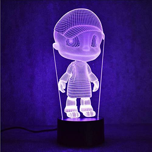 Kreative 3D Led Usb Vision Bunte Nachtlicht Tischlampe Baby Schlafen Nachtlicht Neuheit Hut Junge Lampe Kinder Nacht Dekor Geschenk
