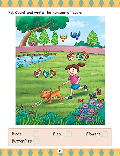 GIKSO Maths Activity Book - 1 for Kids Age 3-5 Years Old
