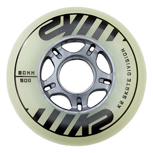 K2 Inline Skates Rollenset 80 mm Freeride Glow Wheel Ersatzrollen - Weiß - 4 Rollen - 30B3004.1.1.1SIZ
