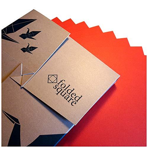Rot Origamipapier | 100 Blatt, 15cm Quadrat | Pantone 1797 -