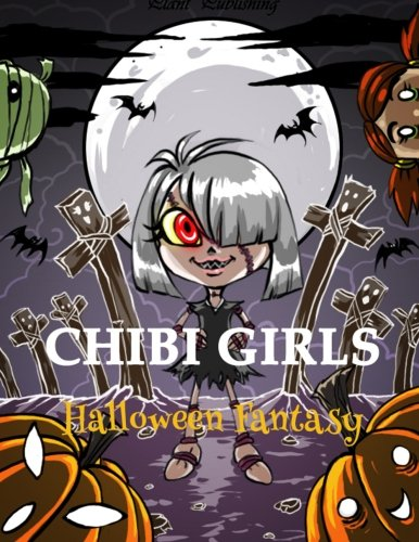 een Fantasy: An Adult Coloring Book with Horror Girls (Halloween Chibi)