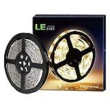 Lighting EVER Bandeau LED Recoupable de 5 m, Ruban LED Blanc Chaud 3000k, Ruban Led...