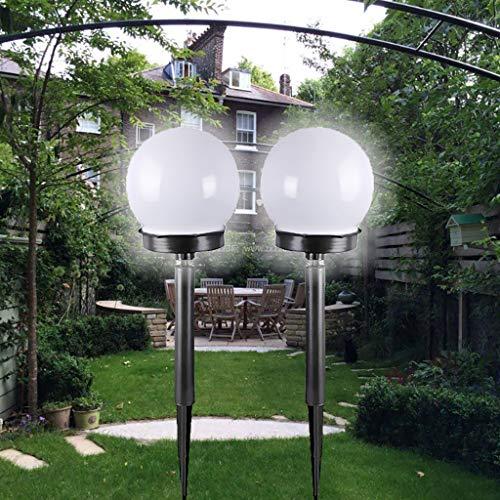 Watopi - Juego de 2 estacas solares de 33 cm, impermeables, 2 modos, multifunción, para jardín, paisaje, patio, césped, pasarelas, luz blanca