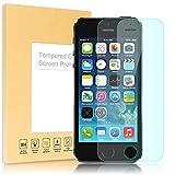 Apple iPhone SE 5 5S 5C Panzerglas Schutzfolie von NICA, 2.5D Round Edge Full-Cover Displayschutz-Folie / 9H Panzerfolie Schutz-Glas / Volle Handy Display-Abdeckung Panzer-Glasfolie - Kristall Klar