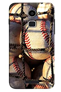 Omnam Balls Lying In Net Printed Designer Back Cover Case For Coolpad Note 3 Lite
