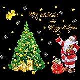 MMLC Weihnachtsdeko Weihnachtssticker Merry Christmas Schaufensterdekoration (I)