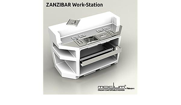 Tavolo Da Lavoro Per Zanzibar : Bancone bar luminoso zanzibar attrezzato acciaio inox: amazon.it