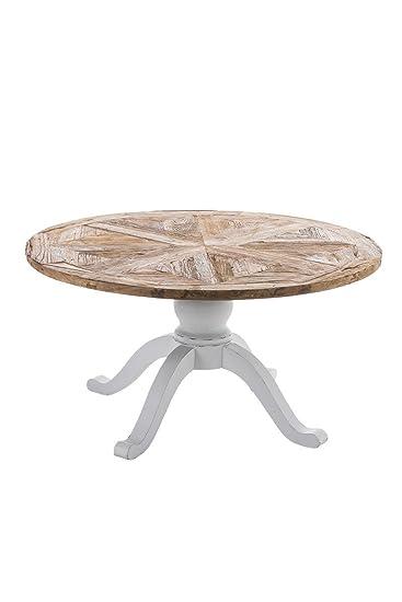 CLP Holz Esszimmer Tisch FABIA, Rund, Handgefertigt, Shabby Chic  Landhaus Stil, Größe Wählbar 120 Cm: Amazon.de: Küche U0026 Haushalt