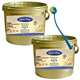 2 x 1 kg Lyra Pet Dog Adult Light im Eimer Premium Hundefutter + Ballschleuder