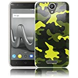 thematys Passend für Wiko Harry Camouflage Army Silikon Schutz-Hülle weiche Tasche Cover Case Bumper Etui Flip Smartphone Handy Backcover Schutzhülle Handyhülle