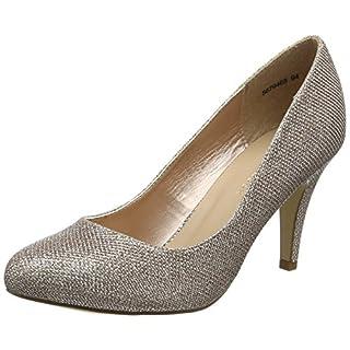 New Look Women's Wide Foot Reanna Closed Toe Heels, Gold (Rose Gold 94),6 UK (39 EU)