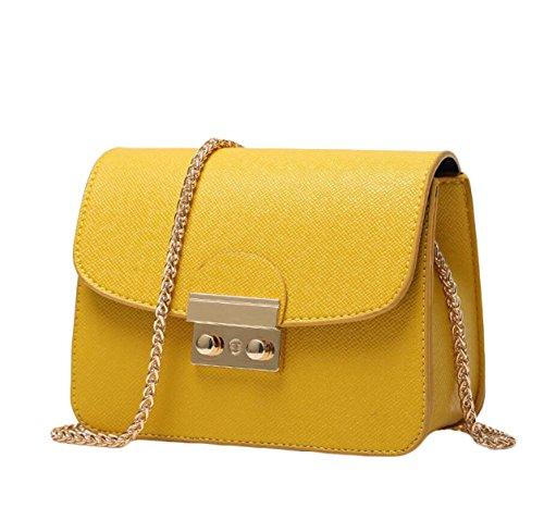 Piccola Custodia Signora Messenger Bag Pacchetto Quadrato Mini Pacchetti Per Natale Yellow