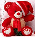 #4: Richy Toys Santa Teddy Bear Plush Stuffed Soft toys Animals Birthday Gift For Kids 38CM (Red)