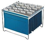 Durable 312323 - Supporto per cartelle sospese, metallo, 30-40 cartelle f.to 4 e Folio, 350x285x370 mm (LxHxP), argento metallizzato