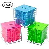 Twister.CK Money Maze Puzzle Box, Money Holder Puzzle f¨¹r Kinder und Erwachsene Geburtstag (3er Pack)