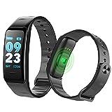 SLGJYY Bluetooth Smart Armband Farbdisplay Armband Pulsmesser Blutdruckmessung Fitness Tracker