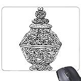 China chinesische Alten Kultur der Qing-Dynastie Vase Line Zeichnen Rechteck rutschfeste Gummi Mauspad Spiel Maus Pad Geschenk