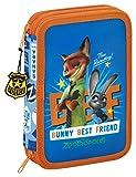 Zootrópolis Piccolo astuccio doppio, 34pezzi, colore: blu/arancione