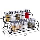 Glas Spice box Mit gewürz-rack Hausgebrauch [kombination von ausrüstung] Die menage Salz zucker Pufferspeicher Die spice box Sauce-flasche-B