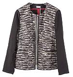 BASLER 21126 Damen Jacke Blazer Strickjacke Jackett Gr. 46 schwarz grau