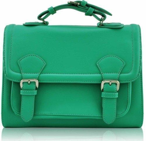 Mens Büro Taschen Jungenschule Faux Ledertasche Handtaschen Bote Universität Cross Body Smaragd