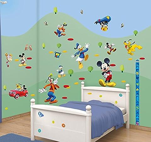 Walltastic 41448 Disney, Mickey Mouse Clubhouse, Kit zur Raumdekoration, Vinyl, bunt, 37,5 x 8 x 18 cm