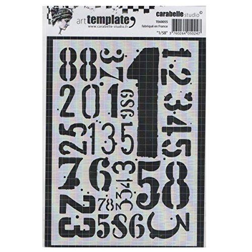 Carabelle Studio Art Template Schablone, 21186 zum gestalten von Gemusterten Hintergründen und Erstellen von Kunstwerken und Bastelprojekten -