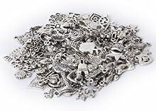 Paquete 100 uds Colgante Amuleto Dije Talisman De Aleacion Surtido Forma