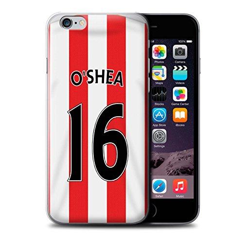 Offiziell Sunderland AFC Hülle / Case für Apple iPhone 6+/Plus 5.5 / Van Aanholt Muster / SAFC Trikot Home 15/16 Kollektion O'Shea