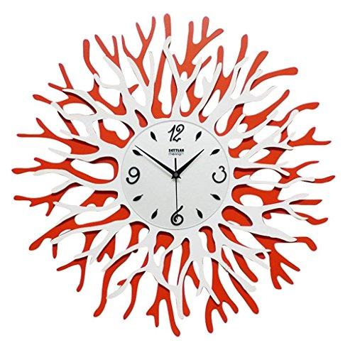 UEHH Coral Flower Clock, Fine Fashion Decoration Bell Watches and Clocks Art Creative Pocket Watch 60x60cm (Coral Mirror)