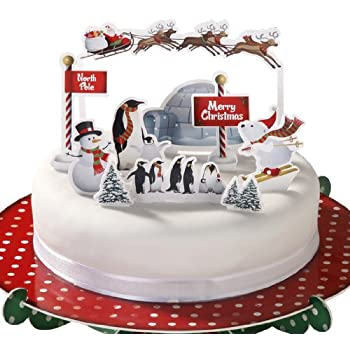 christmas wedding cake toppers uk cake toppers pack of 12 festive cake 12844