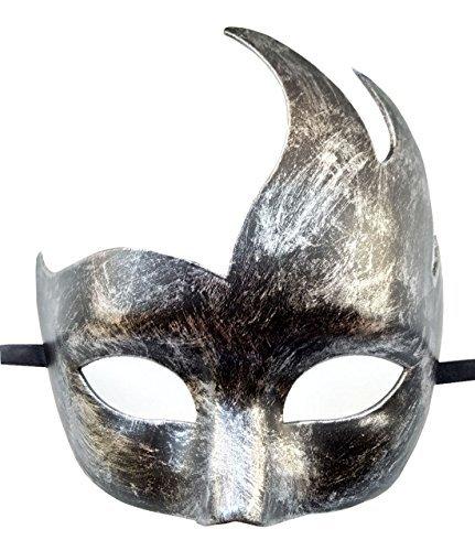 Mascarada Máscara Veneciano Fiesta Máscara Halloween Trajes Negro Mardi Gras Máscara (Plata negro)