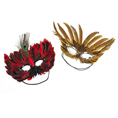 Darice 2 Verschiedene Federn Maske