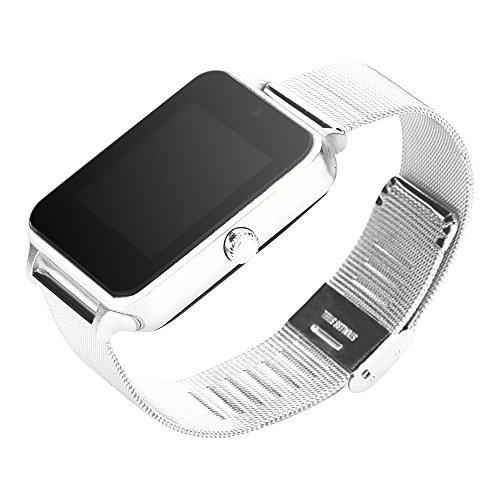 LRWEY Fitness Armband, Z60 Plus Smart Uhr Telefon Schrittzähler Sitzende Erinnern Schlaf Monitor, Fitness Armband Smart Uhr für Damen Herren