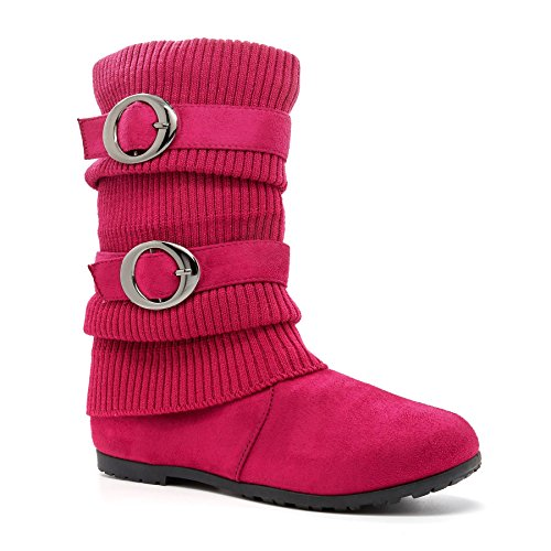 London Footwear ,  Damen Kurzschaft Schlupfstiefel Rose
