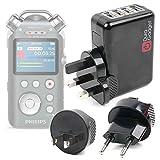 DURAGADGET Kit De Adaptadores con Cargador para Philips DVT7500, ieGeek 8GB, Roland R-07 Portable Audio Recorder - ¡para Que Pueda Conectar Su Smartphone Alrededor del Mundo!