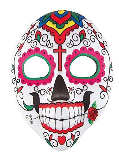 Clown Maske Für Erwachsene (P 'tit Clown-12404-Maske Erwachsene Stoff-Day of The Dead-Herren-Einheitsgröße)