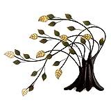 dekoratives LED Wandbild Baum, LED in den Blättern, Bewegungssensor, batteriebetrieben