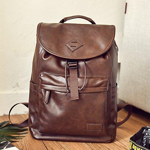 Meoaeo Männer Reisetasche, Umhängetasche, Mode Grosse Kapazität brown