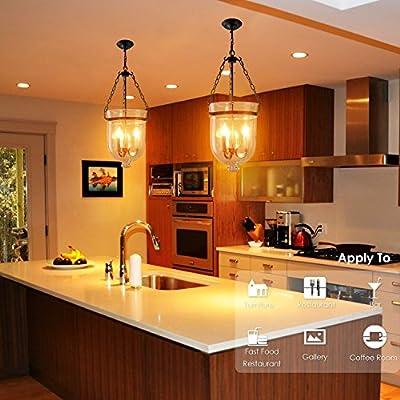 Edison Glühbirne E14, NUODIFAN 6x Vintage Kleine LED Kerze Birne Antike Lampe (Warmweiß 4W 2700K Amber Glas) Dekorative Retro Glühbirne Ideal für Kronleuchter, Hänge Kristalllampe und Pendelleuchten