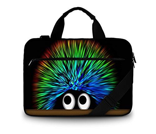 Luxburg® Design Gepolsterte Business- / Laptoptasche Notebooktasche bis 17,3 Zoll mit Schultergurt, Mehrzwecktasche, Motiv: Igel Undercover