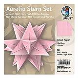 Ursus 35605526 - Faltblätter Aurelio Stern, Crush paper, 15 x 15 cm, rosa