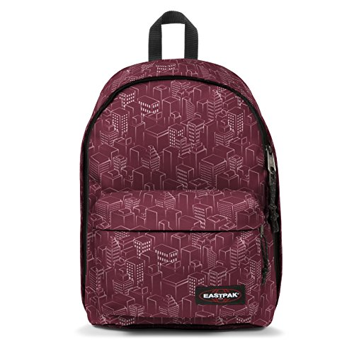 Eastpak OUT OF OFFICE Sac à dos loisir, 44 cm, 27 liters, Rouge (Merlot Blocks)