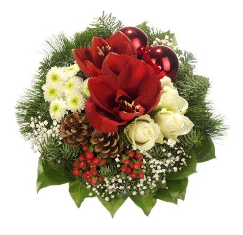 """floristikvergleich.de Dominik Blumen und Pflanzen, Weihnachststrauß """"Weihnachtsstern"""""""