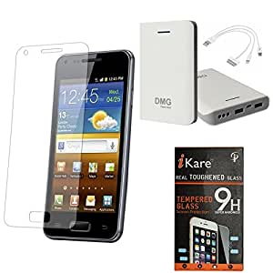 iKare Pack of 2 Premium Shatter Proof Tempered Glass Ultra Clear Screen Protector for HTC Desire 620G + iKare 30000 mAh Portable Power Bank