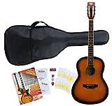 Classic Cantabile Guitare de Western Starter Set y compris set d?accessoires 5 pièces