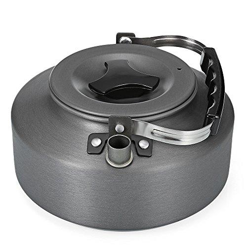 Shuzhen,Tragbarer ultraleichter Tee-Wasserkocher-Kaffeekanne 1.1L für Das Wandern des...
